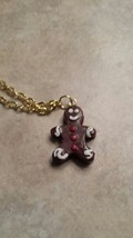 Cute Gingerbread Clay Charm Necklace  - $6.00