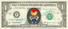 NESS Earthbound On Real Dollar Bill Cash Money Bank Note Currency Dinero - $6.66