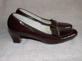 Naturalizer SNAKE Print Brown Pump Heels 8AA For Women Used - $39.59