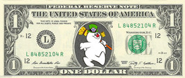 FROSTY the Snowman Christmas on REAL Dollar Bill Cash Money Bank Note Currency - $6.66