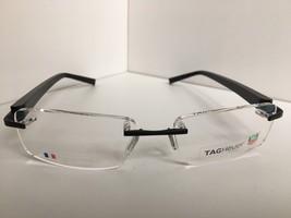 bd4e8c777e5a New TAG Heuer TH 8104 009 56mm Black Eyeglasses Optical Rimless Frame -   277.46