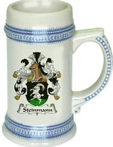 Steinmann Coat of Arms Stein / Family Crest Tankard Mug - $21.99
