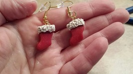 Cute Christmas Stocking Wire Earrings - $5.00