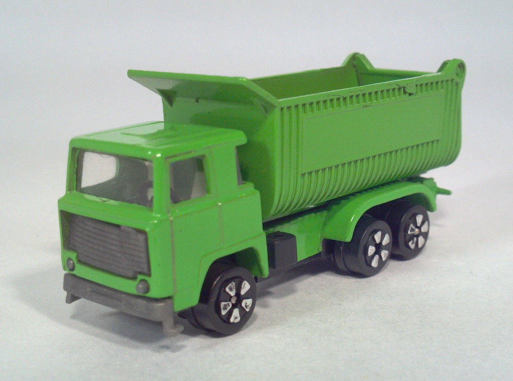 EE PLAYART 1970s Scania LBS140 Cabover Dump Truck Green Die Cast Scale Model