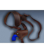 Barsony Brown Leather Concealment Shoulder Holster for RUGER LCR 38 357 SA - $49.99