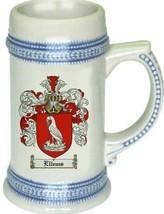 Ellems Coat of Arms Stein / Family Crest Tankard Mug - $21.99