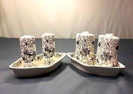 Dutch Garden Service Set - Ceramic Salt & Pepper and Oil & Vinegar Carafes - $14.99