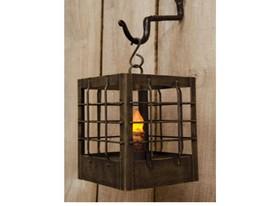 Post Lantern Antique metal ring handle S-hook for hanging Timer Candle  - $38.37 CAD