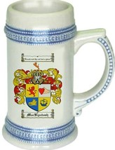 Mackyntosh Coat of Arms Stein / Family Crest Tankard Mug - $21.99