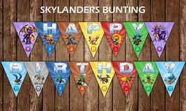 Skylanders Happy Birthday Banner, Flags, Bunting Printable Digital File - $7.50