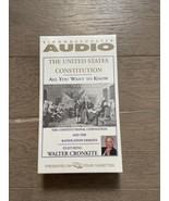 US Constitution Walter Kronkite Simon & Schuster 4 Audio Cassettes Seale... - $15.00