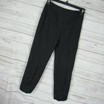 Piazza Sempione Pants Womens Black Size IT42 Audrey Silk Blend - $64.79