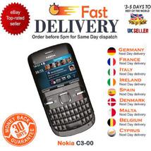 Nokia C3-00 Wifi Qwerty Keypad Camera Unlocked Mobile Phone Various Colo... - $42.32