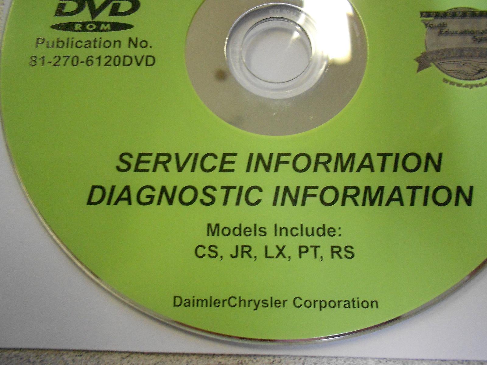 2006 CHRYSLER PACIFICA SEBRING 300 PT CRUISER Service Manual DVD CD Sep05 06