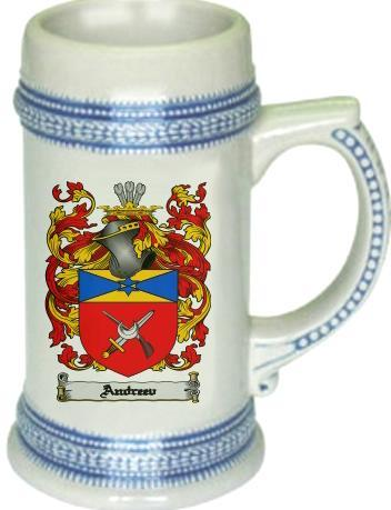 Andreev Coat of Arms Stein / Family Crest Tankard Mug