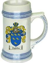Applebee Coat of Arms Stein / Family Crest Tankard Mug - $21.99
