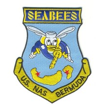 US Navy Naval Air Station Bermuda Patch Seabees - $11.87