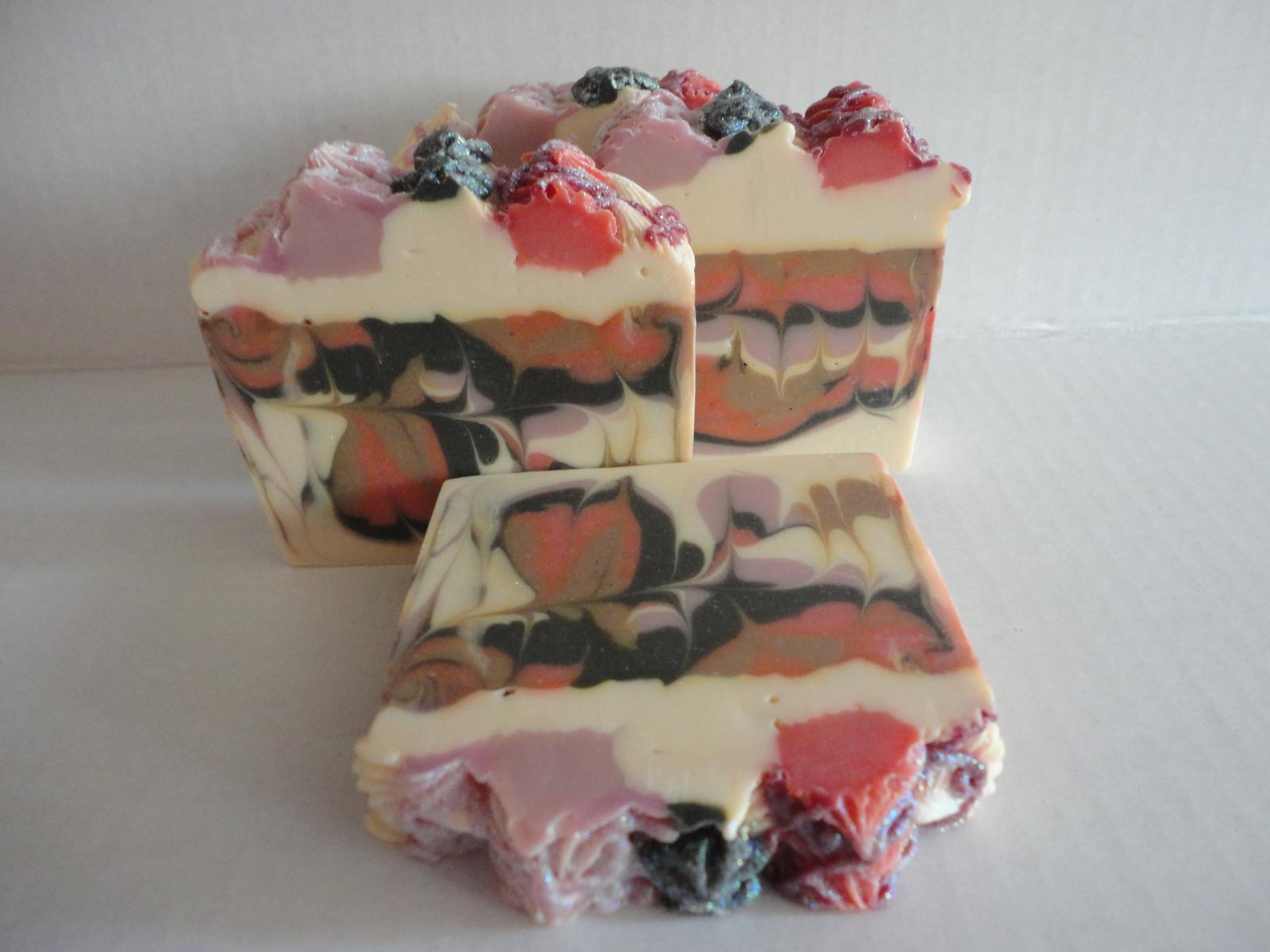 Sale!! Sale!! Black Raspberry Vanilla Soap / Vegan Artisan Cold Process Soap