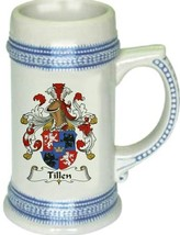 Tillen Coat of Arms Stein / Family Crest Tankard Mug - $21.99