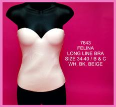 Felina Long Line Bra black by Elegance by Carbonneau - $134.99