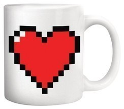 Morning Cup , Heat Color Change Tea Coffee Milk Mug - Best Gift (Pixel H... - £9.93 GBP