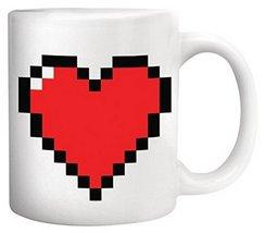 Generic Pixel Heart Morphing Mug/Coffee Mug - £8.48 GBP