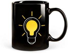 Yellow Light Bulb Thermometer Coffee & Beverage Heat Sensitive Mug - £11.35 GBP