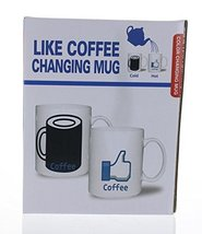 Facebook Like Coffe Heat Color Changing Cup Morning Mug - £6.97 GBP