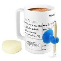 eSmart Ceramic Schedule Mug Coffee Cup Office Students Curriculum Memo M... - £11.29 GBP