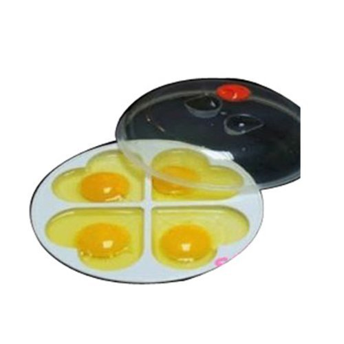 Microwave Oven 4 Eggs Heart-shaped Poacher Cooker Omelette Maker