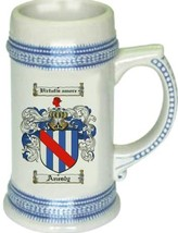Anesly Coat of Arms Stein / Family Crest Tankard Mug - $21.99