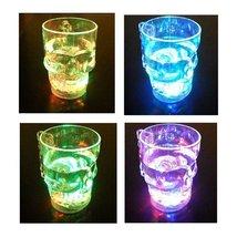 LED-Cube 14 oz Skull Flashing Led Beer Mug Light Up Barware Drink Cup (C... - £5.43 GBP