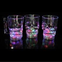 LED-Cube 14 oz Skull Flashing Led Beer Mug Light Up Barware Drink Cup (C... - £9.32 GBP