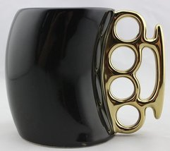 eSmart Fist Cup Brass Knuckle Duster Handle Coffee Mug, White/Black and ... - £13.05 GBP