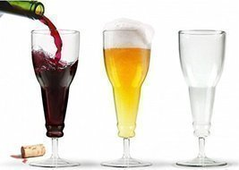 Deaux Stemware Upside Down Beer Bottle Style Wine Glass Goblet Inverted ... - $179,56 MXN