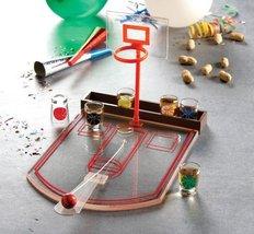 Crystal Clear Shot Glass Basketball Bar Game Set [Kitchen] - $20.04