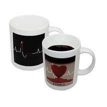 eSmart ECG Color Changing Mug, Unique Great Gift Idea (Heart) - £10.89 GBP