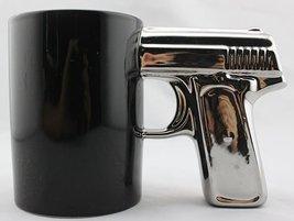 BLACK&SILVER-Pistol Cup,Gun Mug,Mug - £11.22 GBP
