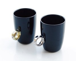 Creative Stylish 2-carat CUP Solitaire Ring Mug (Black Silver) - £14.83 GBP