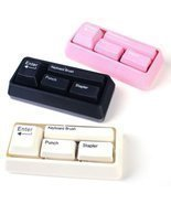 eSmart Keyboard Style Desk Stationary Set Stapler Brush Hole Punch Paper... - €15,29 EUR
