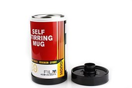 Excelity Stainless Lazy Self Stirring Mug Auto Mixing Tea Coffee Cup (Red) - £14.83 GBP
