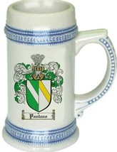 Pantano Coat of Arms Stein / Family Crest Tankard Mug - $21.99