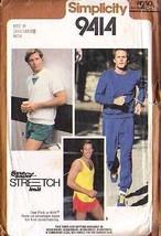 1980 PULLOVER TOP, TANK TOP, SWEATPANTS, SHORTS Pattern 9414-s Sz 34-38 ... - $9.99