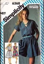 1983 DRESS & CULOTTE DRESS Pattern 6368-s Size 10 - Complete - $11.65