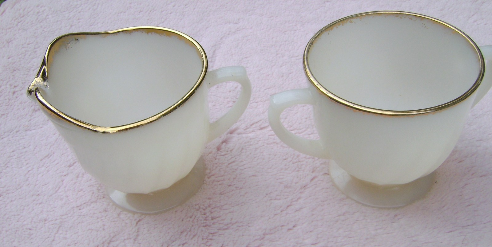 Primary image for Small Anchor Hocking Milk Glass Sugar & Creamer