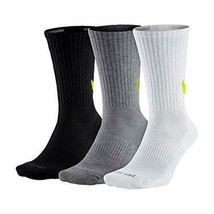 Nike Unisex 3 Pair Pack Everyday Max Cushion Crew Training Socks SX4950-946 - $19.99