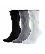 Nike Unisex 3 Pair Pack Everyday Max Cushion Crew Training Socks SX4950-946 - $19.99