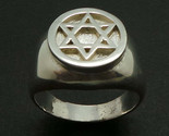 925 Silver Hebrew Jewish Hannukah Star of David Signet Ring for Men Sizable - £29.10 GBP