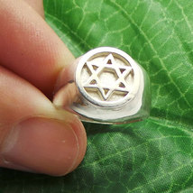 925 Silver Hebrew Jewish Hannukah Star of David Signet Ring for Men Sizable image 2