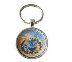Astronomical Clock keyring-Prague,old medieval,czech,steampunk,travel,europe - $18.32